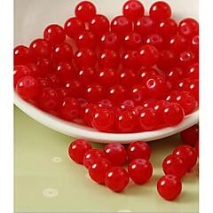 baratos Miçangas & Fabricação de Bijuterias-Jóias DIY 80 pçs Contas Vidro Fúcsia Café Rosa cor de Rosa Vermelho Verde Redonda Bead 1 cm faça você mesmo Colar Pulseiras