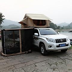 billige Telt og ly-Deerke 3-4 personer Dobbelt camping Tent To Rom Familietelt Vindtett Regn-sikker til Camping & Fjellvandring Camping / Vandring / Grotte