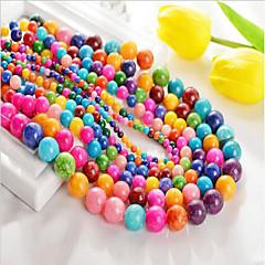 baratos Miçangas & Fabricação de Bijuterias-Jóias DIY 48 pçs Contas Ágata Arco-íris Redonda Bead 0.8 cm faça você mesmo Colar Pulseiras