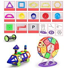 tanie Klocki magnetyczne-Blok magnetyczny Klocki 146pcs Zaokrąglanie Kwadrat Samochód Transformable Zaprojektowany specjalne Interakcja rodziców i dzieci