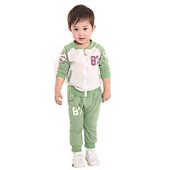 billige Tøjsæt til drenge-Spædbarn Drenge Afslappet Sport Bogstaver Langærmet Bomuld Tøjsæt