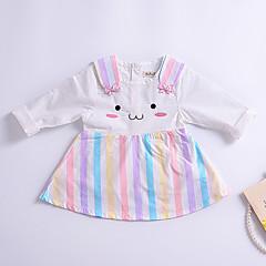 billige Babykjoler-Baby Pige Simple Ensfarvet 3/4-ærmer Uld / Bomuld / Bambus Fiber Kjole
