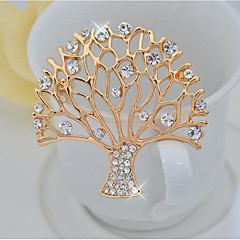 cheap Pins and Brooches-Women's Brooches Elegant Alloy Tree of Life Gold Jewelry For Party Ceremony