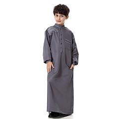 tanie Odzież dla chłopców-Dzieci Dla chłopców Na co dzień / Abaya Impreza Jendolity kolor / Haft Długi rękaw Długi Garnitur / marynarka