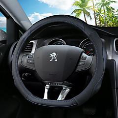 billige Rattovertrekk til bilen-Rattovertrekk til bilen ekte lær 36 cm Blå / Svart / Svart / Rød For Peugeot 308 / 308S