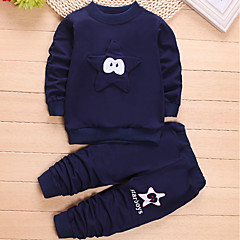 tanie Odzież dla chłopców-Brzdąc Dla chłopców Na co dzień Sport Patchwork Długi rękaw Bawełna Komplet odzieży