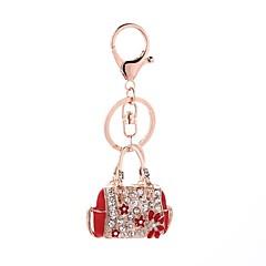 tanie Łańcuszki do kluczy-Łańcuszek do kluczy Biżuteria Czerwony Różowy Torebka Stop Na co dzień Modny Prezent Codzienny Damskie