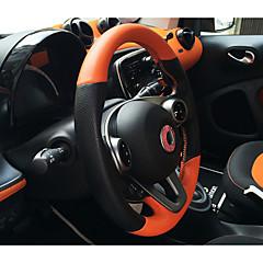 billige Rattovertrekk til bilen-Rattovertrekk til bilen ekte lær 38 cm Hvit / Svart / Oransje For Smart Alle Modeller 2015 / 2016 / 2017