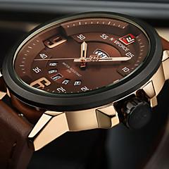 preiswerte Herrenuhren-NAVIFORCE Herrn Armbanduhr Militäruhr Modeuhr Sportuhr Armbanduhren für den Alltag Japanisch Quartz Kalender Großes Ziffernblatt PU Band