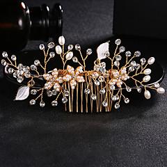 Χαμηλού Κόστους Αξεσουάρ κεφαλής για πάρτι-Μαργαριτάρι / Κρύσταλλο / Κράμα Κομμάτια μαλλιών με Τεχνητό διαμάντι / Κρυσταλλάκια 1pc Γάμου / Καθημερινά Ρούχα Headpiece