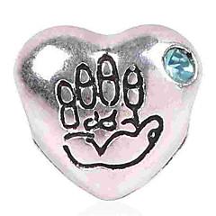 tanie Koraliki i tworzenie biżuterii-Biżuteria DIY 1 szt Korálky Imitacja diamentu Stop Niebieski Light Pink Serce Koralik 0.5 cm majsterkowanie Naszyjniki Bransoletki