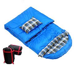 baratos -Saco de dormir Retangular Solteiro (L150 cm x C200 cm) -5-15 Algodão Manter Quente Á Prova de Humidade Portátil A Prova de Vento Á