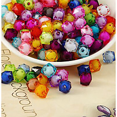 cheap Beads & Jewelry Making-DIY Jewelry 500 pcs Beads Acrylic Rainbow Square Bead 1 cm DIY Necklace Bracelet