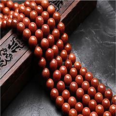billige Perler og smykkemaking-DIY Smykker 48 stk Perler Krystall Brun Rund Perlene 0.8 cm DIY Halskjeder Armbånd