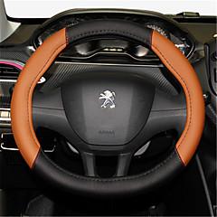 billige Rattovertrekk til bilen-Rattovertrekk til bilen 38 cm Grå / Svart / Rød / Svart / Hvit For Peugeot 308 / 2008 / 308S Alle år
