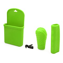 billige Girkuler-3 i 1 silikonautomatisk girskifthodehåndtak håndbremseklokkeholderdeksel