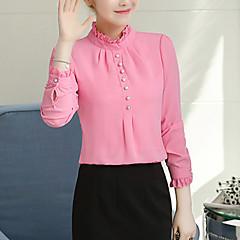 Damen Solide Bluse, Ständer Polyester