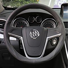 billige Rattovertrekk til bilen-Rattovertrekk til bilen ekte lær 38 cm Rød / Beige / Svart / Rød For Buick Regal / Excelle / Verano Alle år