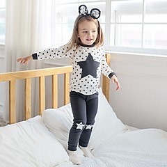 billige Undertøj og sokker til piger-Pige Nattøj Ensfarvet Hvid Grå