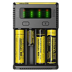 billiga Camping och vandring-Nitecore NEW-I4 Batteriladdare för Li-jon, NI-CD, Ni-MH Bärbar, Professionell, Kortslutningsskydd, Överladdningsskydd Plast