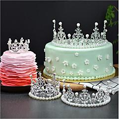 billige Kakedekorasjoner-Kakepynt Eventyr Tema Romantik Fødselsdag Prinsesse søt stil Legering Bryllup Bursdag med Rhinsten 1 OPP