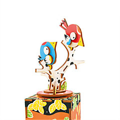 cheap -Wooden Puzzle Animal Classical Cartoon Parent-Child Interaction Hand-made Exquisite Kid's Adults' Gift Boys'