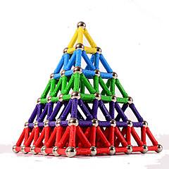 tanie Klocki magnetyczne-84 pcs 5mm Zabawki magnetyczne Blok magnetyczny Magnetyczne pałeczki Klocki Plastik Magnes Magnetyczne Piramida Dla dzieci / Doroślu Unisex Dla chłopców Dla dziewczynek Zabawki Prezent