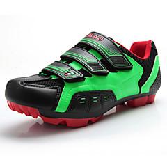 billige Sykkelsko-Tiebao® Mountain Bike-sko Nylon Vanntett, Anti-Skli, Demping Sykling Hvit / Svart / Grønn Herre