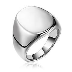 olcso -Férfi Női Karikagyűrűk Szikla hiphop Rozsdamentes acél Geometric Shape Ékszerek Estély Új Év