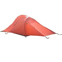 billige Telt og ly-2 personer Telt Dobbelt camping Tent Ett Rom med Vestibyle Turtelt Multi Layer Reflekterende Stripe Vindtett YKK Glidelås Reflekskant
