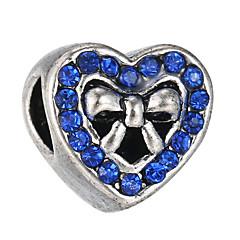 levne Výroba korálků a šperků-DIY šperky 10 ks Boncuklar Štras Slitina Bílá Fialová Perlová růžová Světle modrá Námořnická modř Srdce Korálek 0.45 cm DIY Náhrdelníky