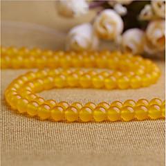 baratos Miçangas & Fabricação de Bijuterias-Jóias DIY 38 pçs Contas Cristal Amarelo Redonda Bead 1 cm faça você mesmo Colar Pulseiras