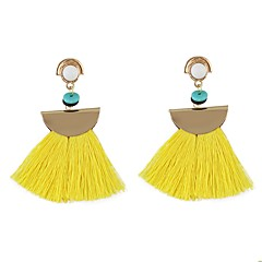 cheap -Women's Tassel Drop Earrings - Tassel, Basic Blue / Pink / Light Blue For Daily / Date