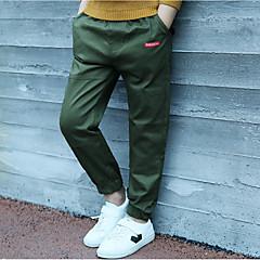 tanie Odzież dla chłopców-Dzieci Dla chłopców Aktywny Solidne kolory / Prosty Bawełna Spodnie
