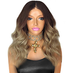 cheap Wigs & Hair Pieces-Remy Human Hair Lace Front Wig Body Wave 130% Density 100% Hand Tied African American Wig Natural Hairline Ombre Hair Short Medium Long