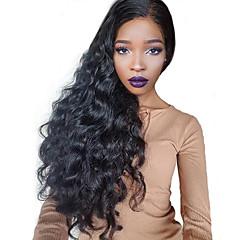 billiga Peruker och hårförlängning-Remy Brasilianskt hår Lace Wig Vågigt 360 Frontal Med babyhår 360 Fasad obearbetade 100% Jungfru Naturlig hårlinje 150% 180% Densitet
