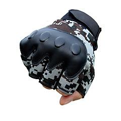 baratos Luvas de Motociclista-Meio dedo Unisexo Motos luvas Pano Demin Vestível / Respirabilidade / Anti-Derrapante