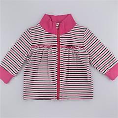 billige Sweaters og cardigans til babyer-Spædbarn Pige Aktiv / Basale Stribet / Farveblok Trykt mønster Langærmet Bomuld Trøje og cardigan / Sødt