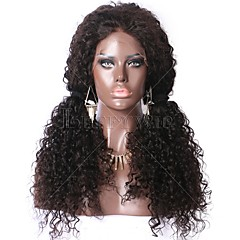 cheap Wigs & Hair Pieces-Virgin Human Hair Human Hair Glueless Lace Front Lace Front Wig Mongolian Hair Curly Kinky Curly Wig 130% Density with Baby Hair Natural Hairline 100% Virgin Unprocessed Women's Medium Length Long