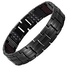 billige -Herre Kjeder & Lenkearmbånd Hologram-armbånd , Fritid Kul Stål Titan Sirkelformet Smykker Avslappet Daglig Kostyme smykker