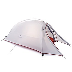 billige Telt og ly-Naturehike 2 personer Dobbelt camping Tent Ett Rom Turtelt Fort Tørring Vindtett Regn-sikker til >3000 mm silica Gel Oxfordstoff -