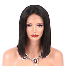 cheap Wigs & Hair Pieces-Virgin Human Hair Lace Front Wig Brazilian Hair Wig Bob Haircut 130% Natural Hairline Women's Short Human Hair Lace Wig