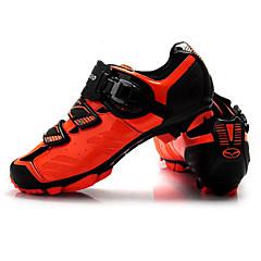 billige Sykkelsko-Tiebao® Mountain Bike-sko Pustende, Anvendelig Sykling Svart / Oransje Herre