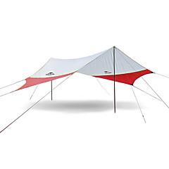 billige Telt og ly-Naturehike 4 personer utendørs Lytelt Regn-sikker Vandring UV Beskyttelse Stang Ett Rom Med enkelt lag >3000 mm Telt til Camping & Fjellvandring Terylene 520*460 cm