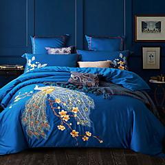 billiga Påslakan-Påslakan Sets Blommig Polyester / Bomull Blandning Jacquard 4 delarBedding Sets