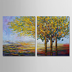 cheap Wall Art-Oil Painting Hand Painted - Landscape Modern Stretched Canvas