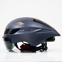 זול קסדה-מבוגרים אופני קסדה 6 פתחי אוורור CE הסמכה עמיד לחבטות, משקל קל ESP+PC רכיבה על אופניים / אופנייים / אופנייים - שחור / לבן / שחור / אדום / שחור + מוזהב