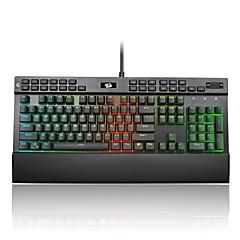 billiga Keyboards-REDRAGON K550RGB Kabel RGB bakgrundsbelysning röda Switches 104 ergonomiskt tangentbord Gaming Keyboard Bärbar Bekväm Spill-resistent