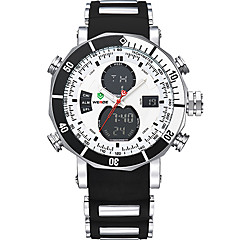 cheap Men's Watches-WEIDE Men's Digital Dress Watch Sport Watch Alarm Chronograph Water Resistant / Water Proof Dual Time Zones LCD Silicone Band Luxury Cool