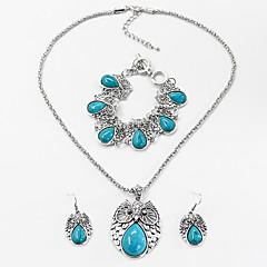 baratos Conjuntos de Bijuteria-Mulheres Turquesa Conjunto de jóias - Resina Animal Fashion Incluir Preto / Vermelho / Azul Para Festa Halloween / Brincos